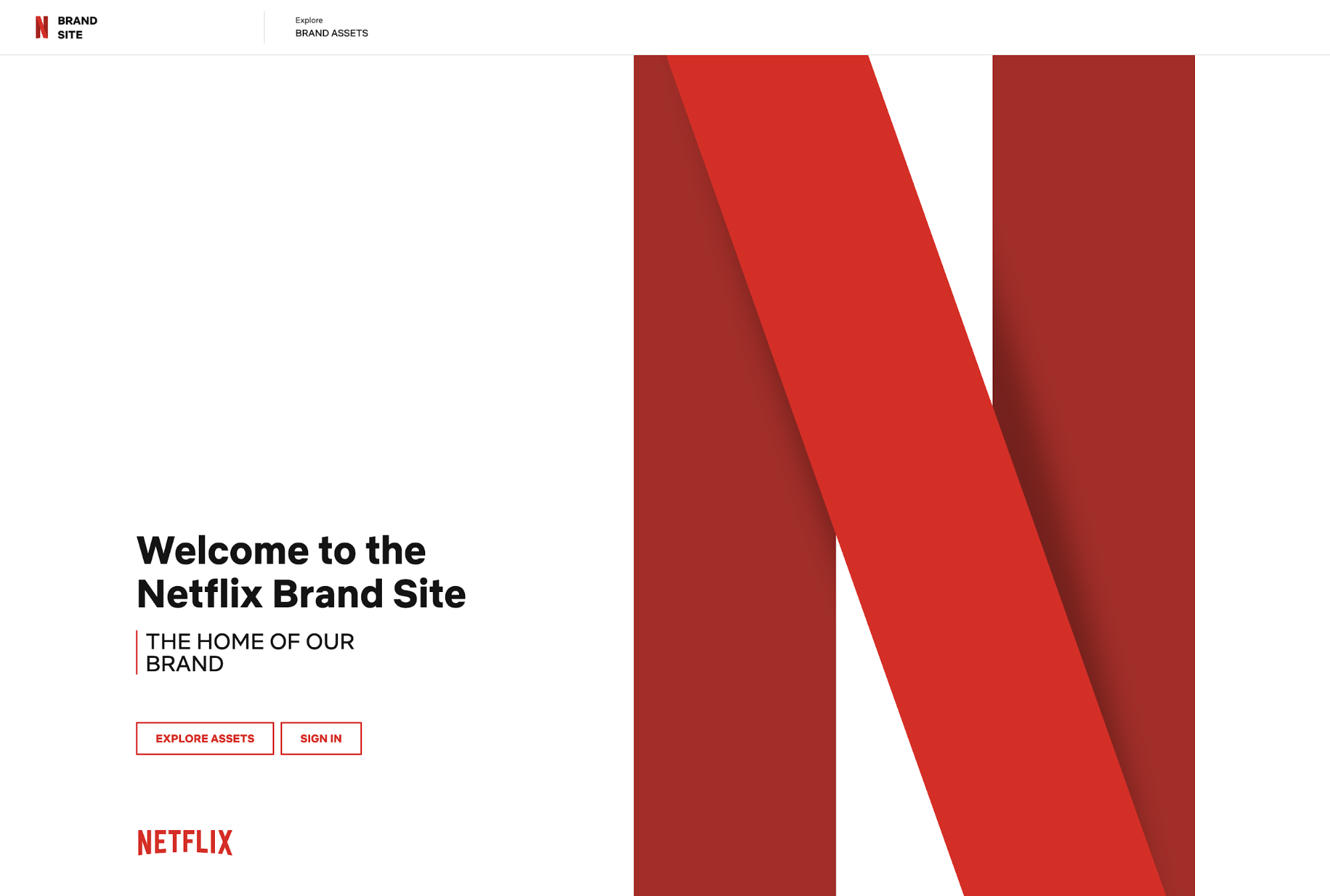 Netflix Brand Guidelines Site