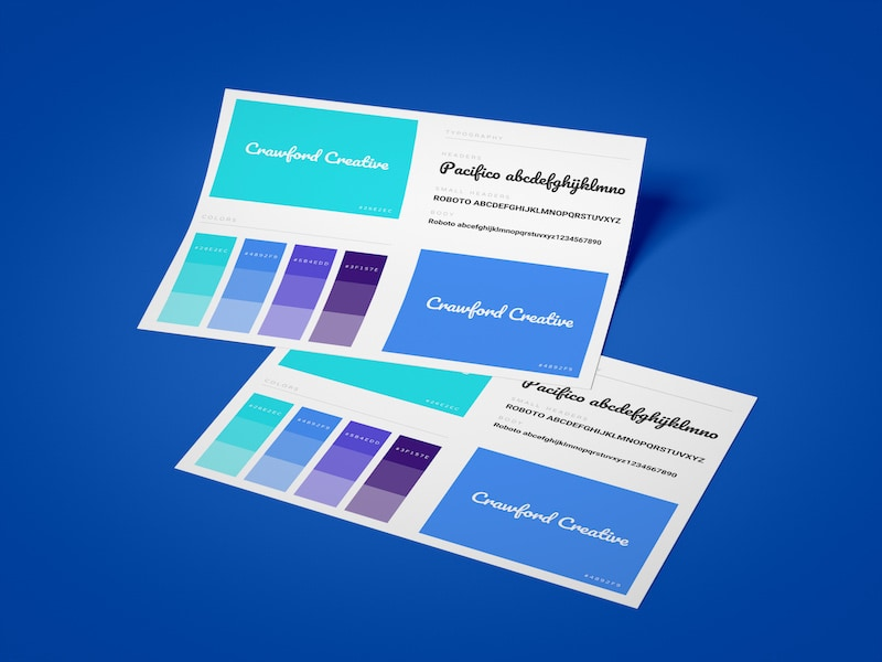 One Page Font Brand Guidelines Template
