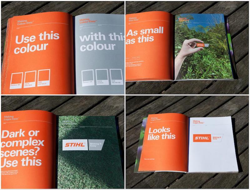 Orange STIHL Business Brand Guidelines Example