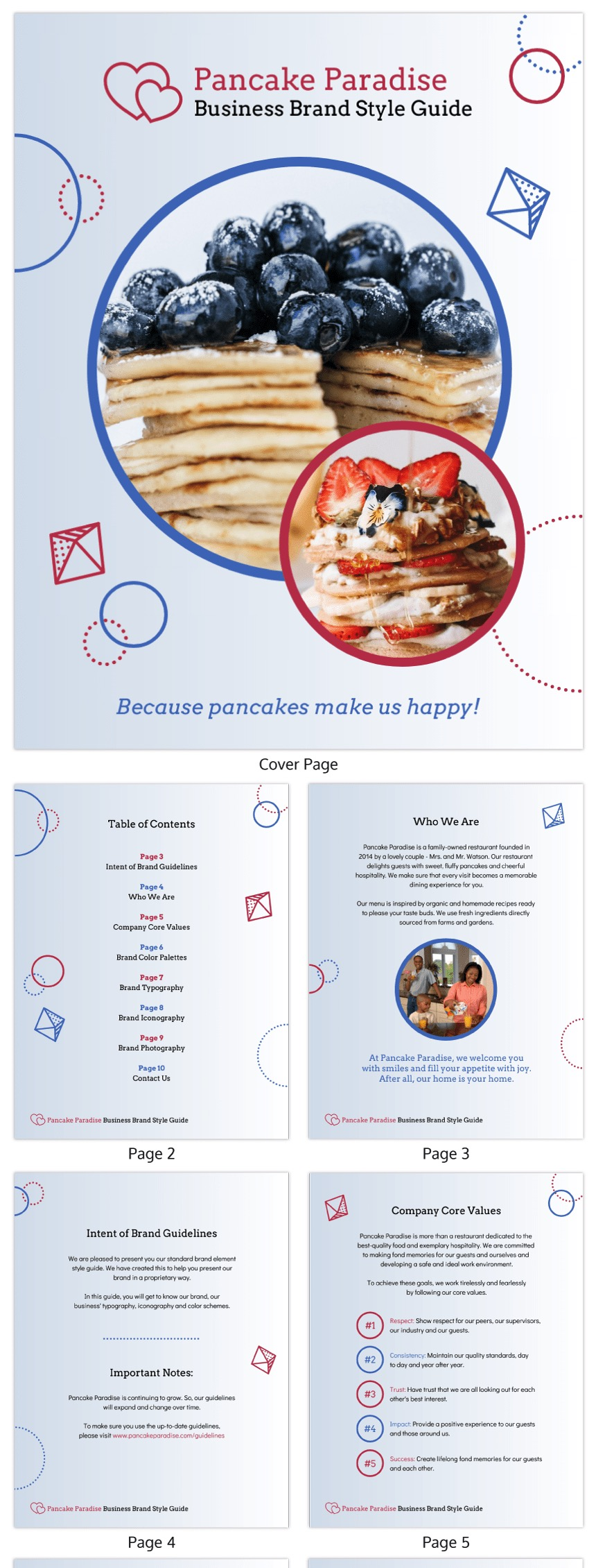 Simple Restaurant Brand Style Guide Template