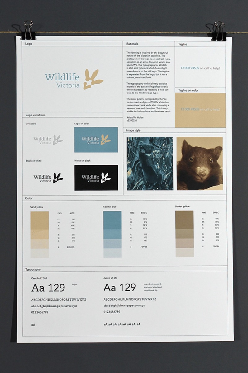 Simple White Brand Guidelines Poster