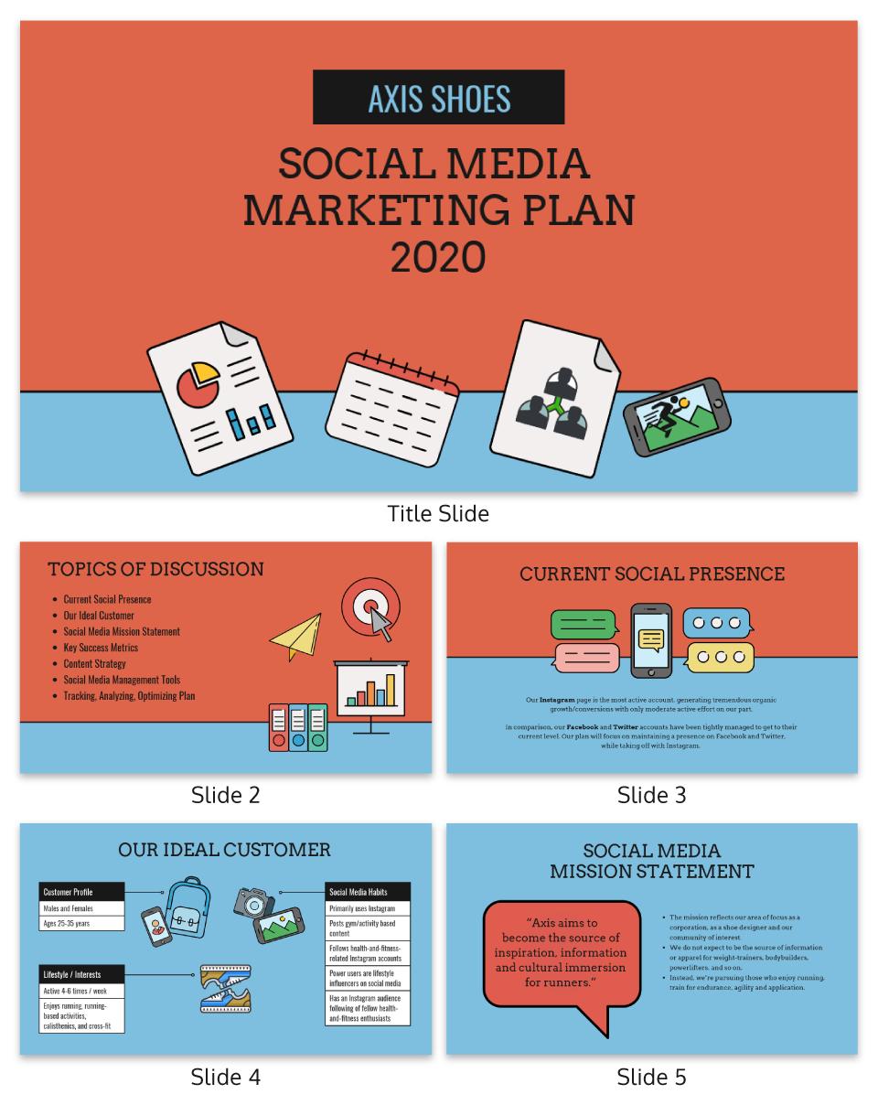 Social media marketing plan presentation template