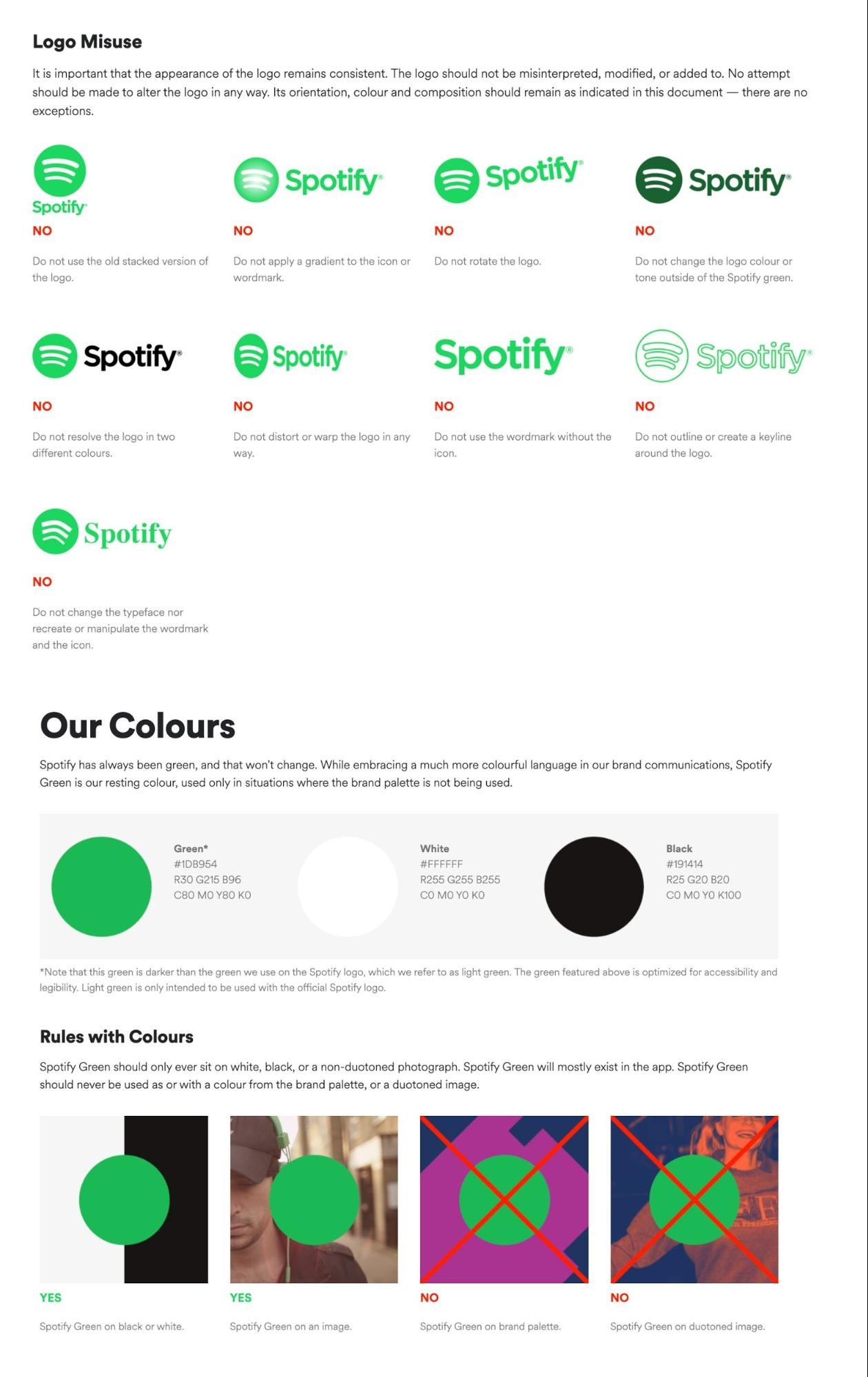 Spotify Logo Brand Guidelines Example