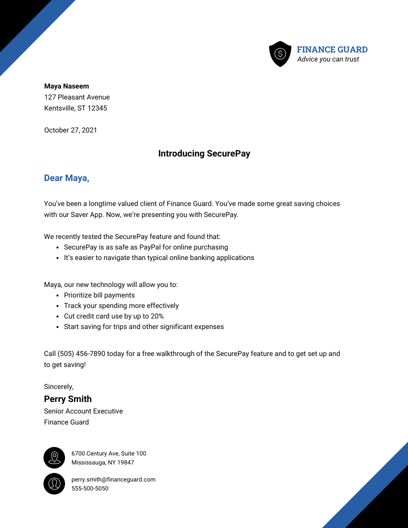 Business Direct Mail Sales Business Letter Template