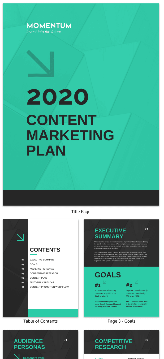 Content Marketing Project Plan Template