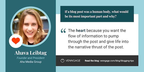Ahava Leibtag blogging tips quote