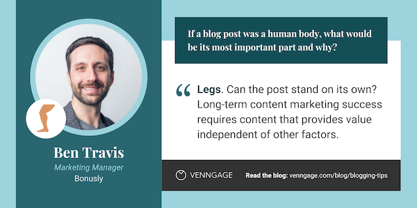 Ben Travis blogging tips quote