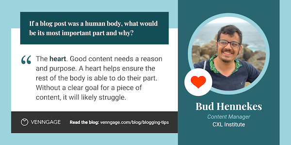 Bud Hennekes blogging tips quote