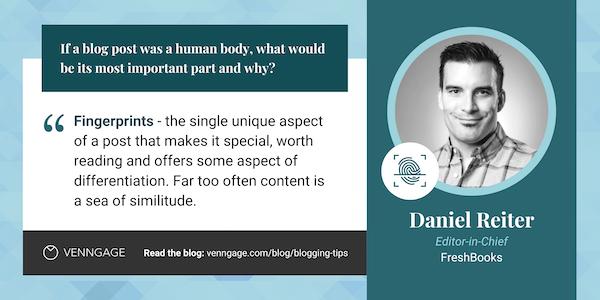Daniel Reiter blogging tips quote