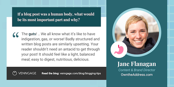 Jane Flanagan blogging tips quote