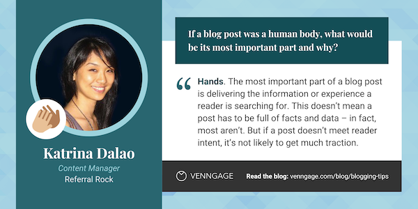 Katrina Dalao blogging tips quote