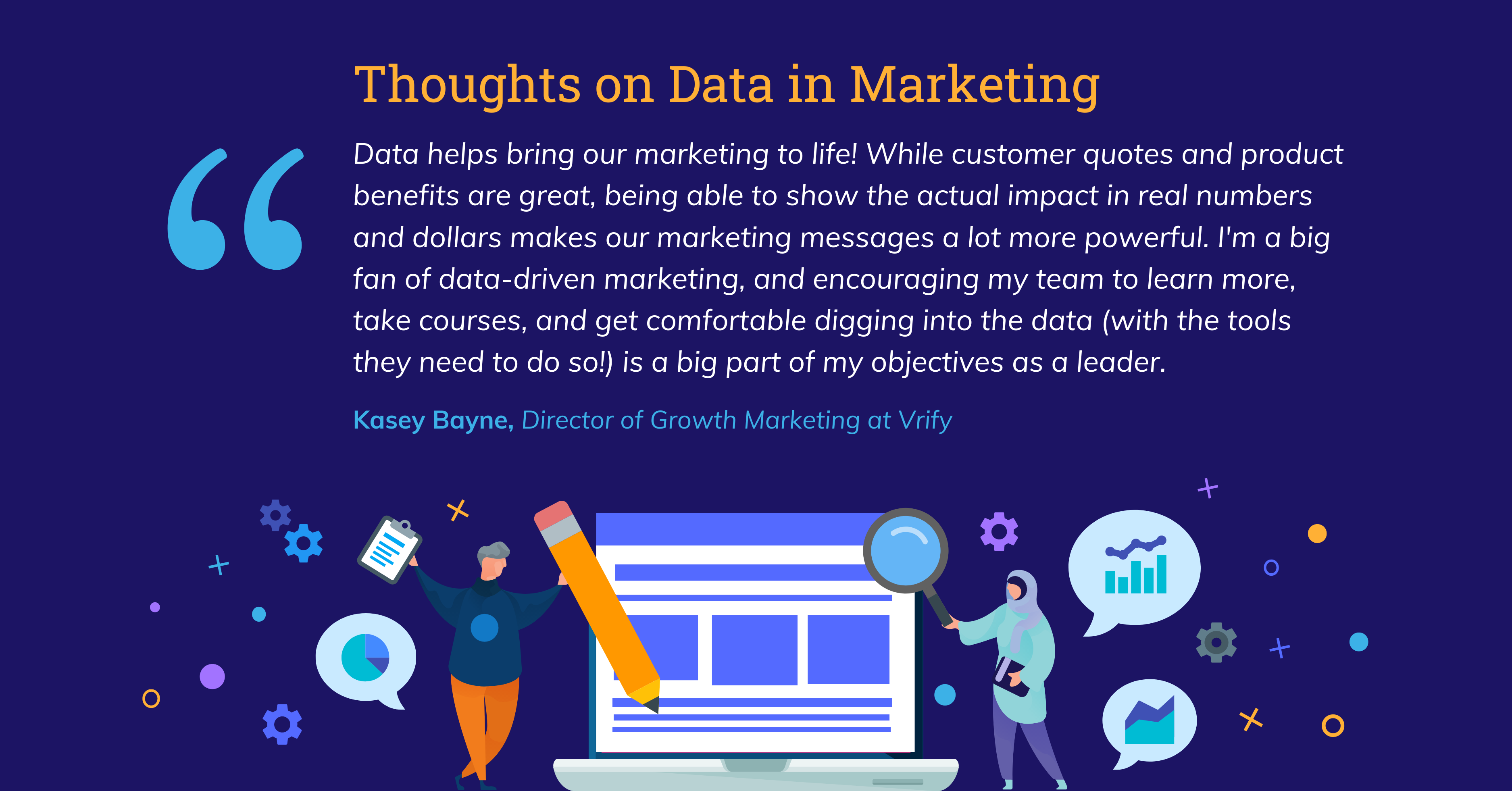 Data Storytelling in Marketing Benchmark Report 2021 Data in Marketing Quote