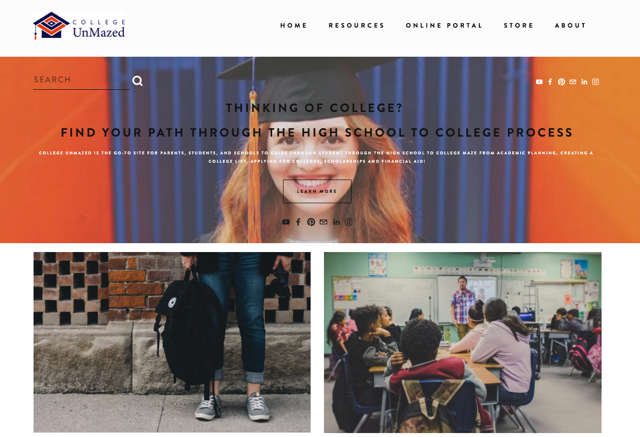 Large Unmaze Me College Unmazed Landing Page