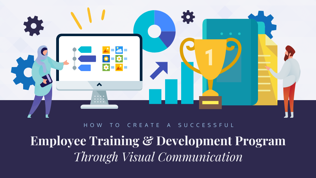 Employee training and development with visual communication