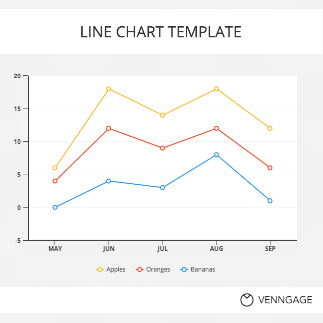 Data Storytelling Colorful Line Chart Template