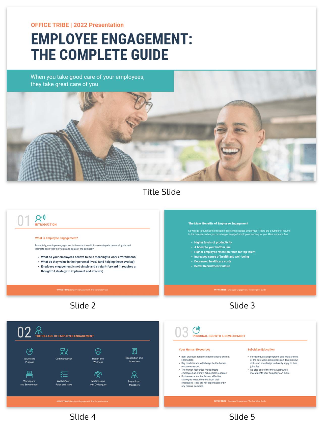Training materials employee engagement presentation template