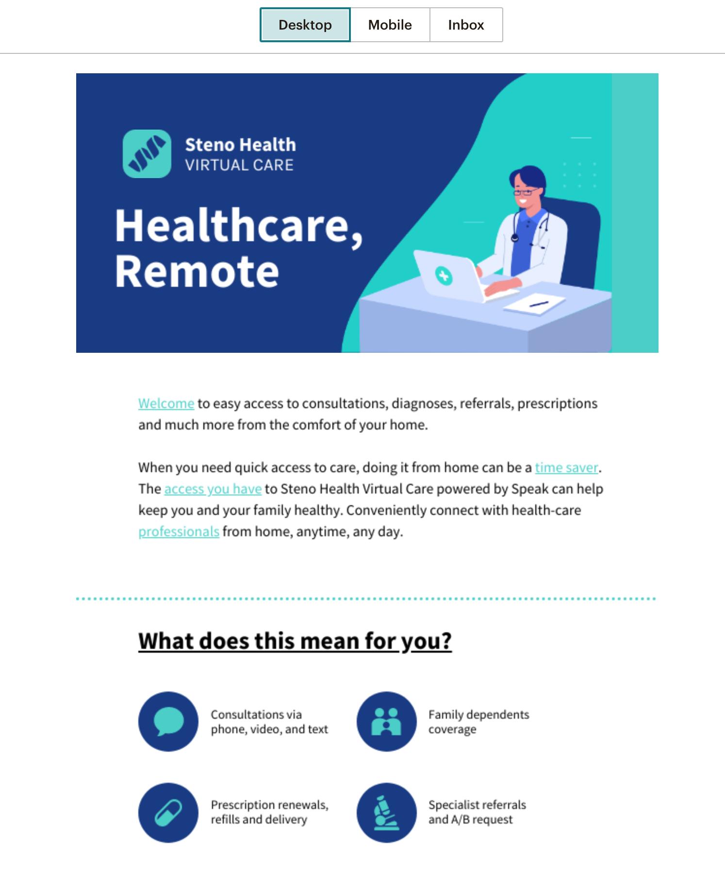 infographic newsletter mailchimp