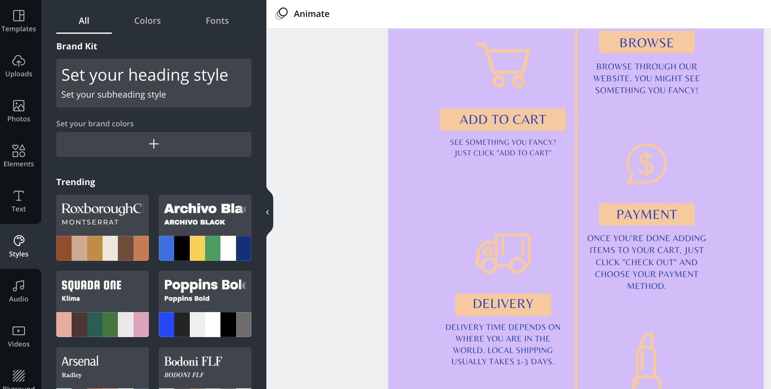 Canva vs Venngage Canva Brand Kit Editor