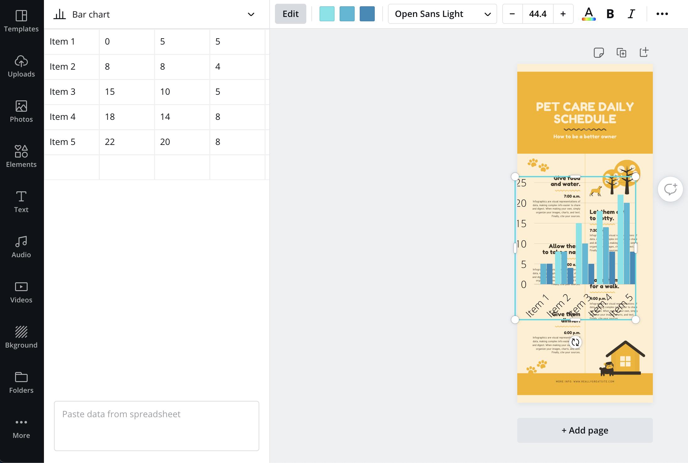 Canva vs Venngage Canva Charts Editor
