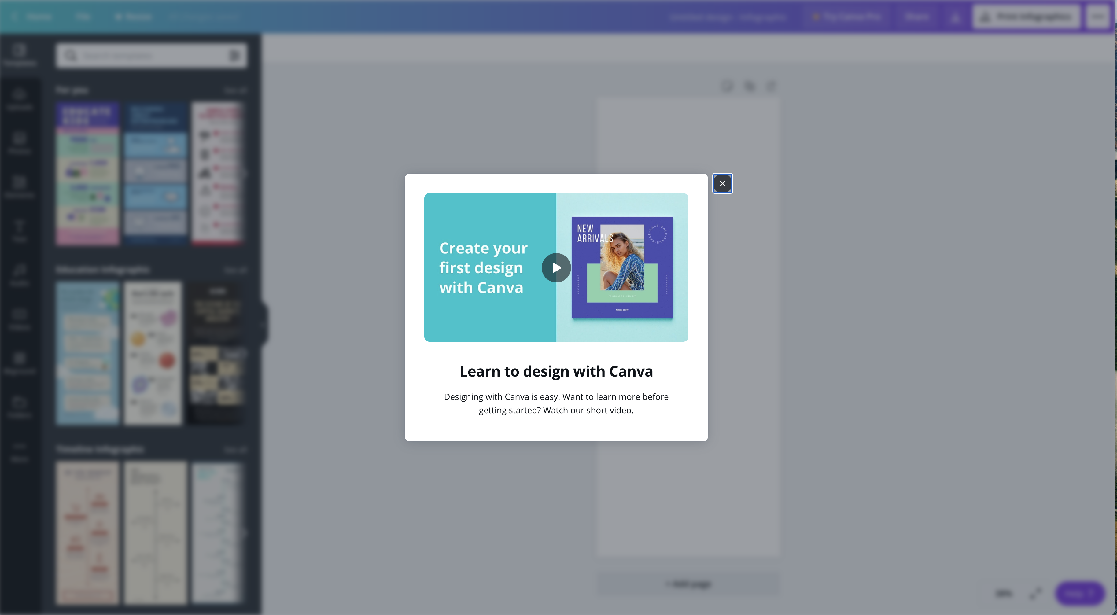 Canva vs Venngage getting started Canva Onboarding - Getting Started Video