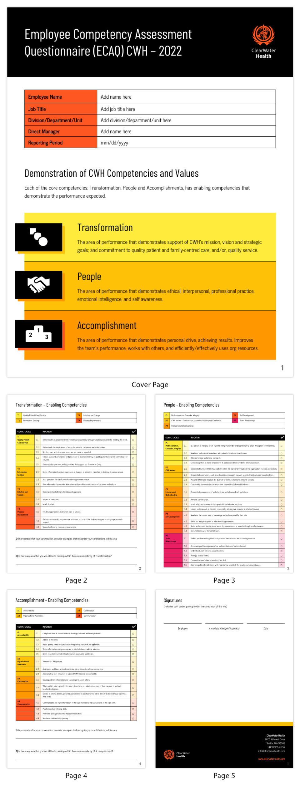 Checklist Infographic Template Health Employee Competency Assessment
