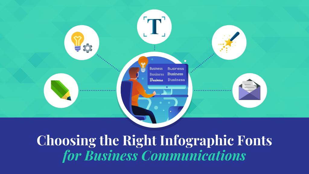 Infographic fonts blog header