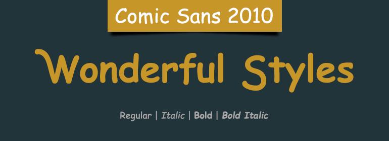 Infographic fonts comic sans