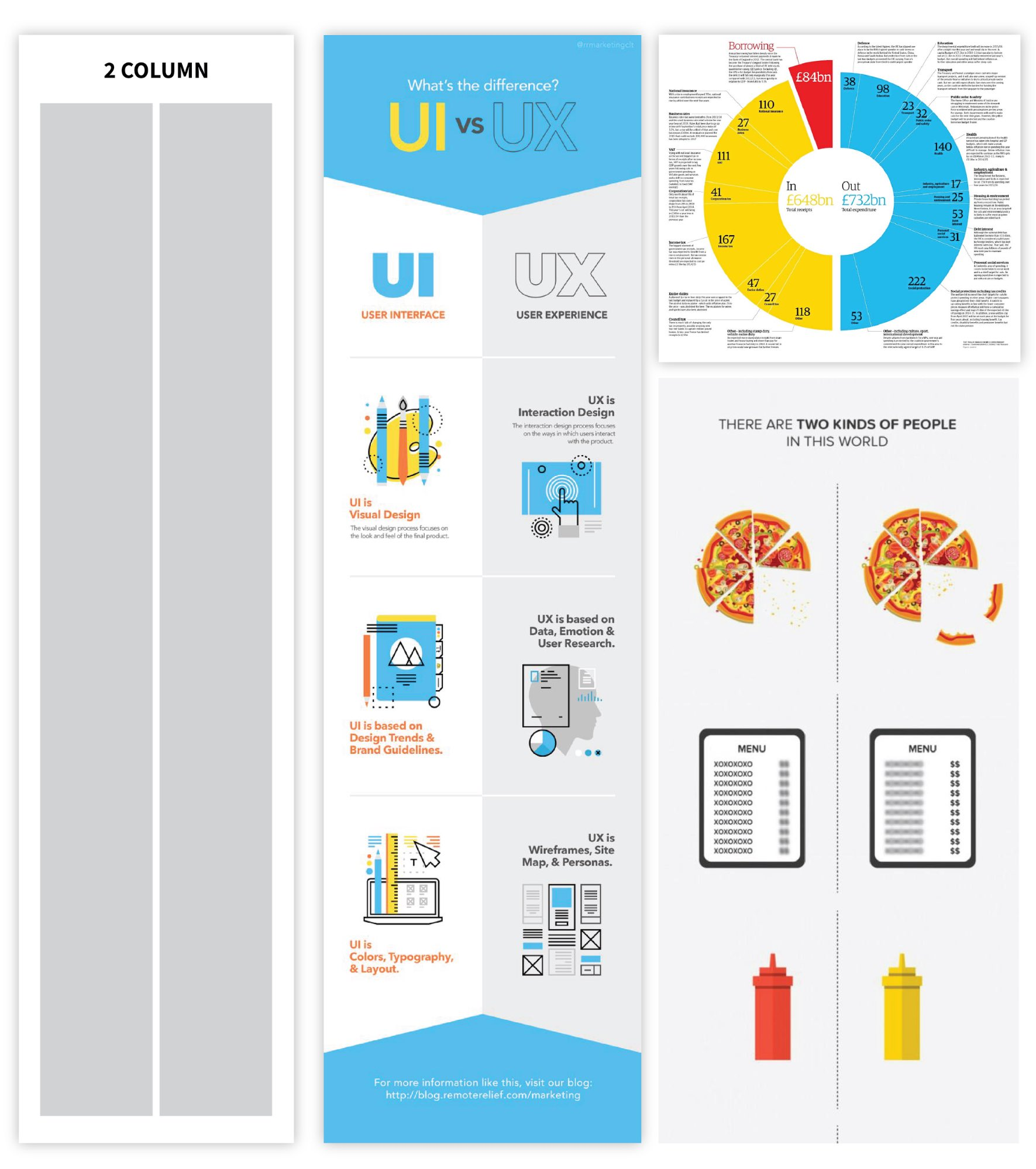 Infographic layout 2 column layout