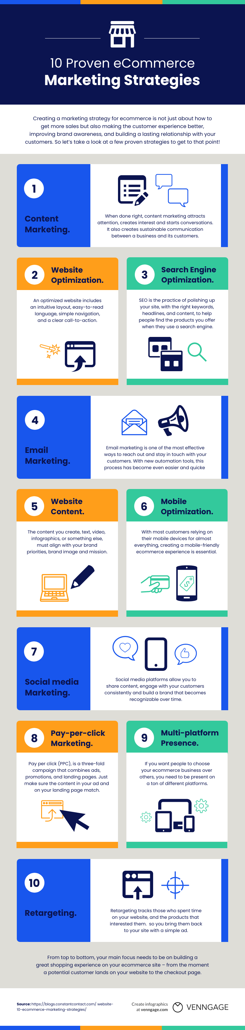Marketing and sales infographic template