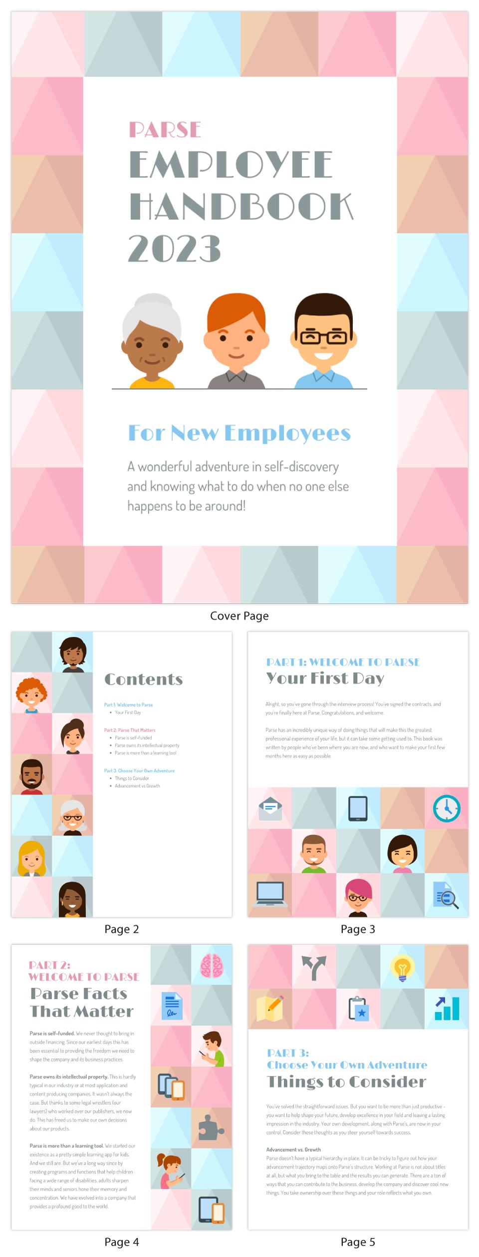 People Infographic Template HR Employee Handbook
