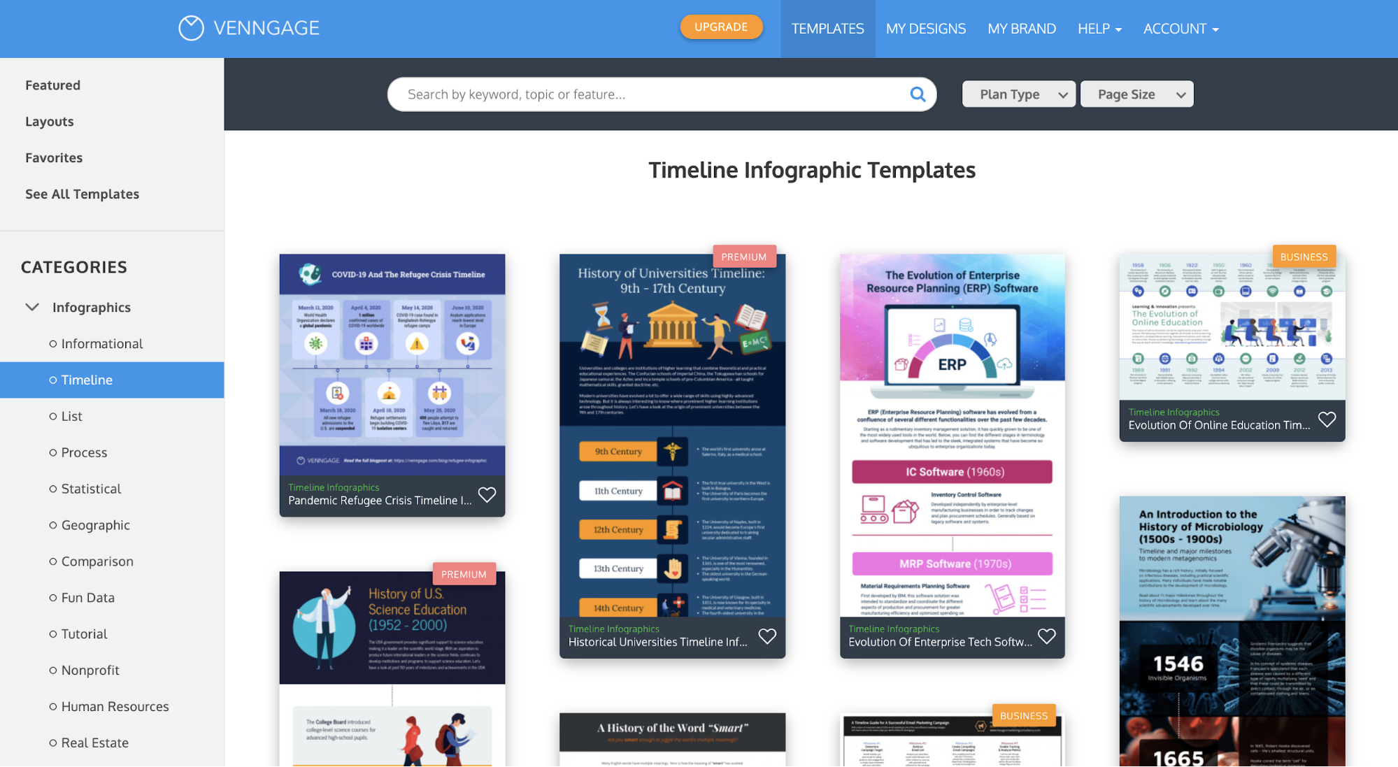 Venngage vs Visme Venngage 12 Infographic Template Category