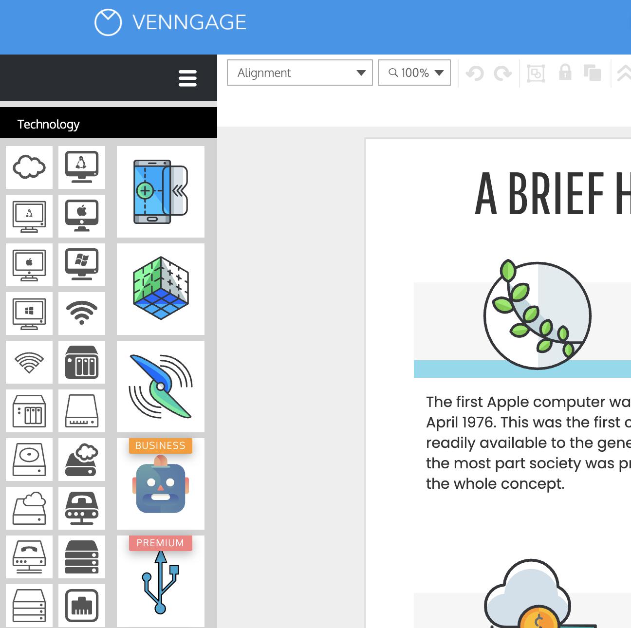 Venngage vs Visme Venngage Premium Icons