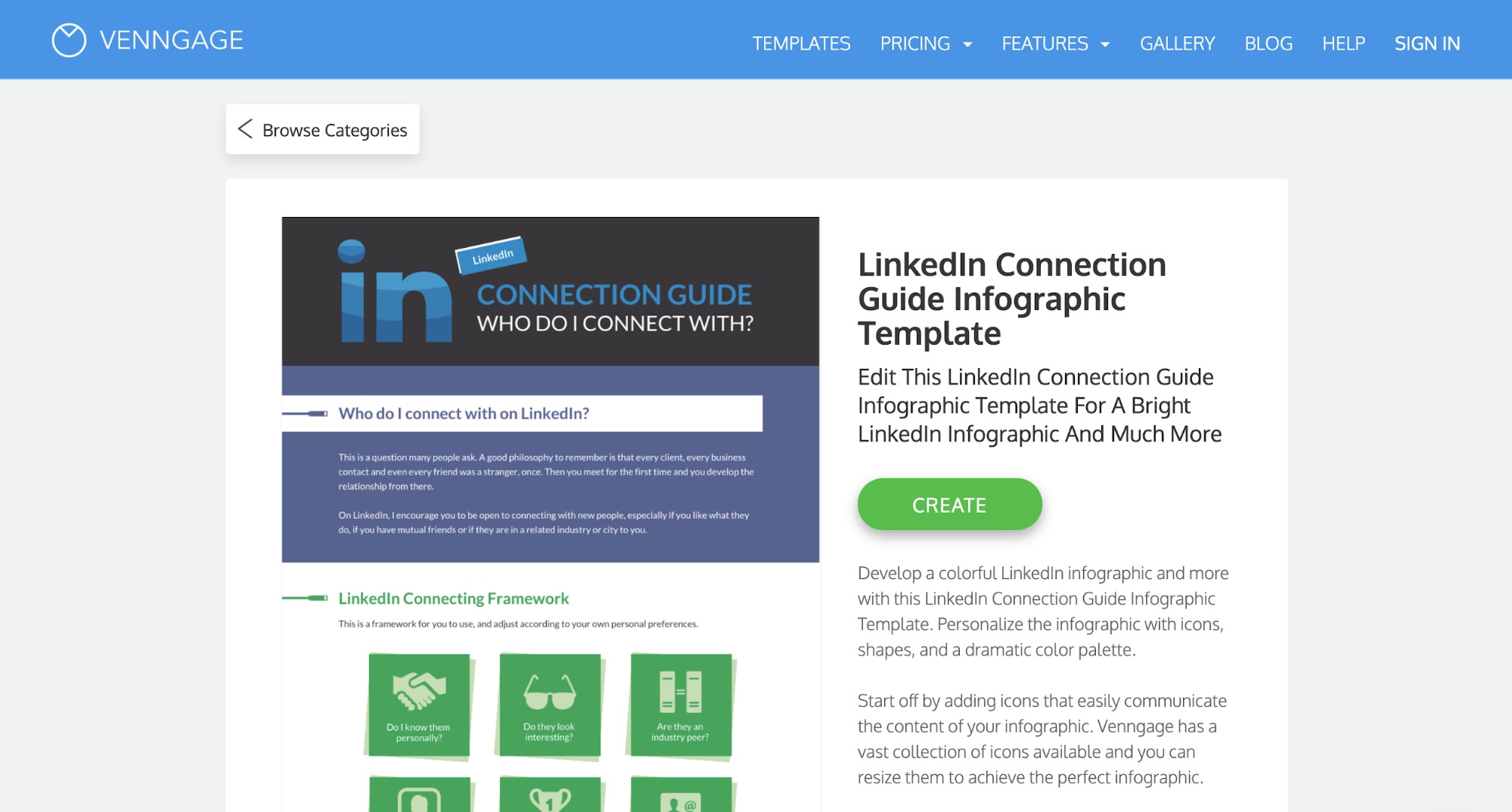 Venngage vs Visme Venngage Preview Template LinkedIn
