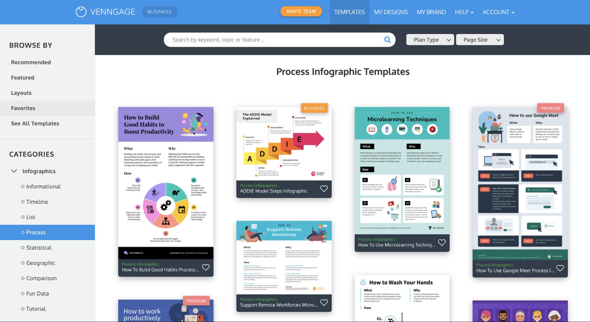 Venngage vs Visme Venngage Process Infographic Templates