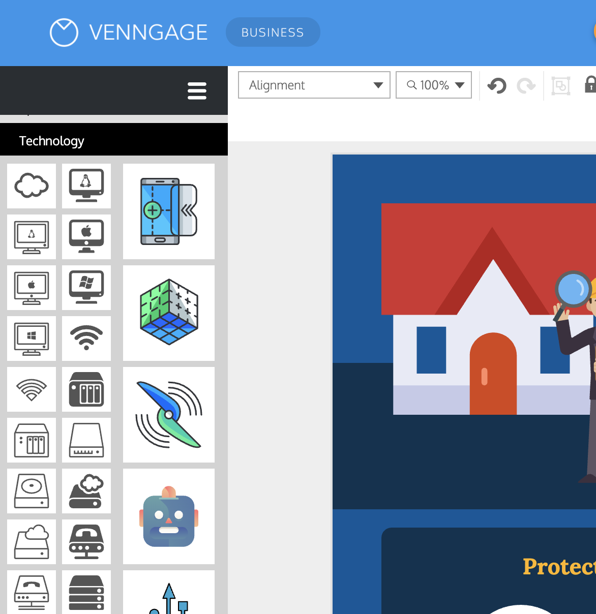 Venngage vs Visme Venngage Side by Side Icons