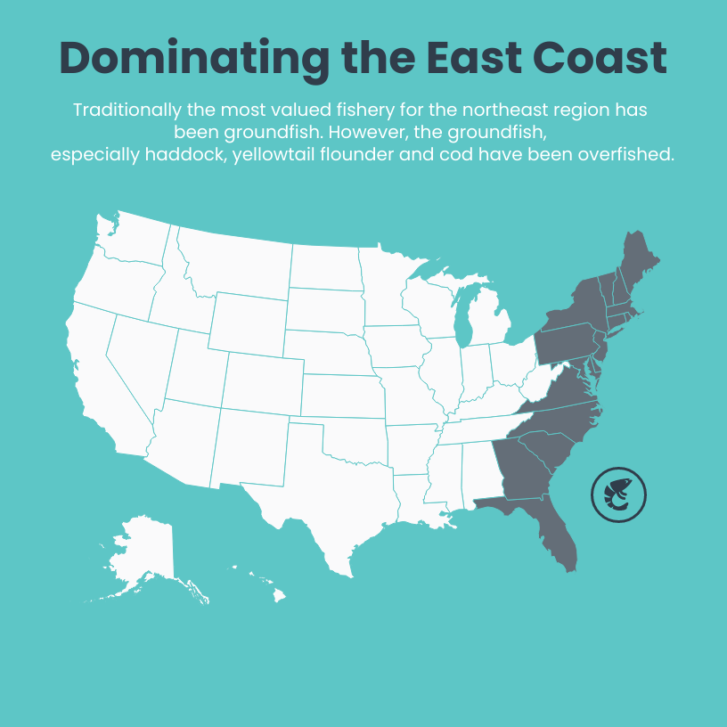 map infographic east coast map