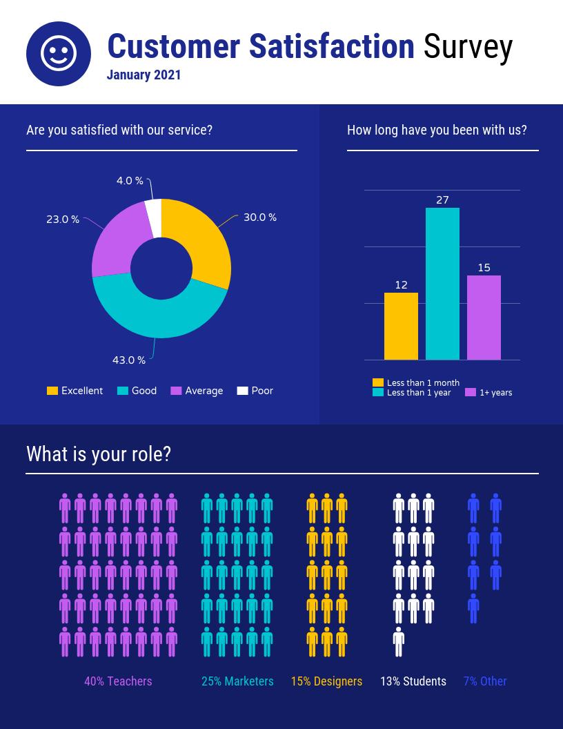 Demographic Infographic Template Customer Satisfaction Survey