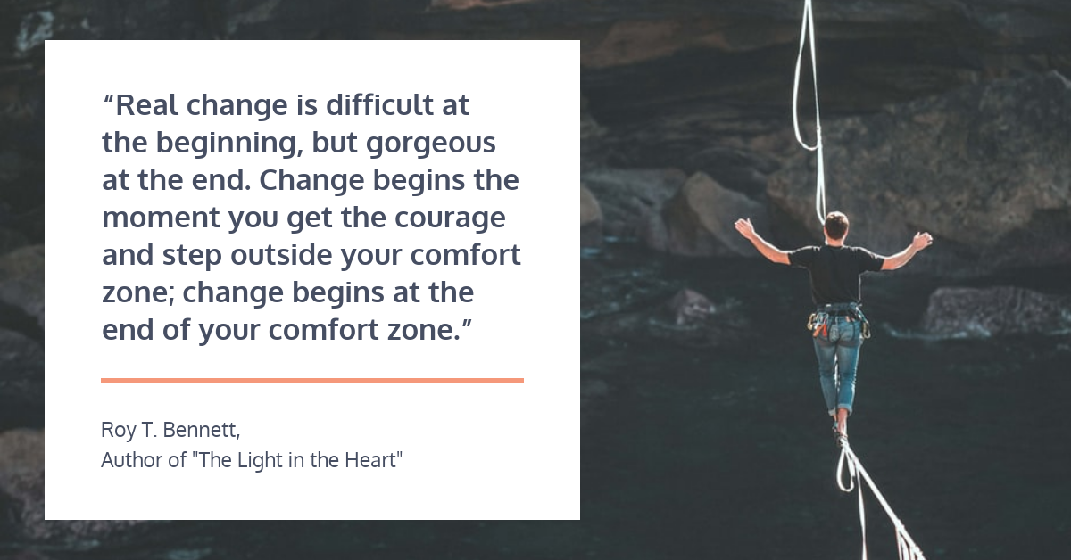 Change Management Strategy LinkedIn Quote Post Template