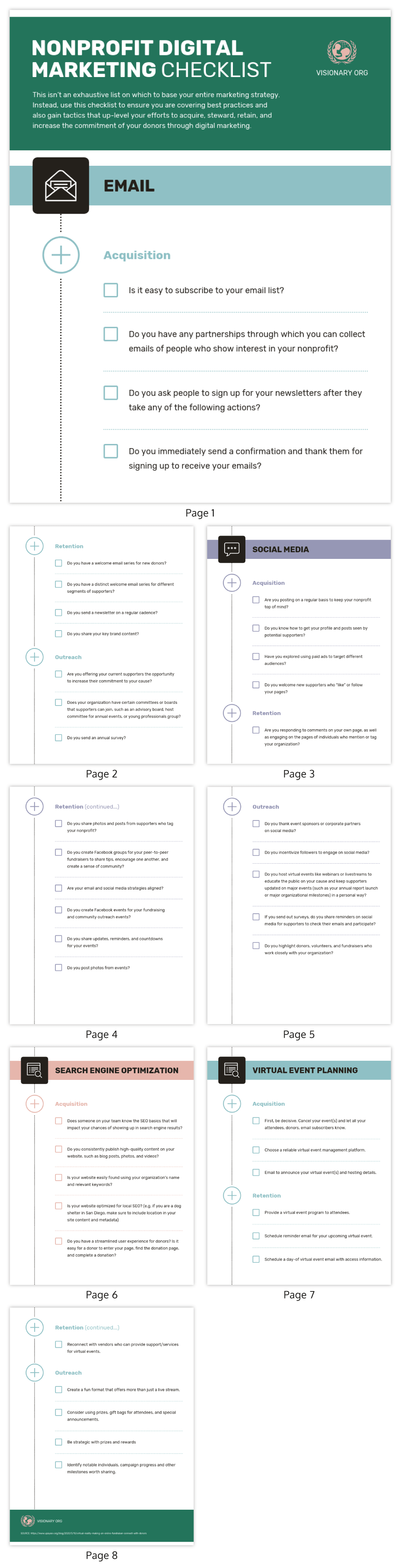 Checklist Infographic Template Nonprofit Digital Marketing