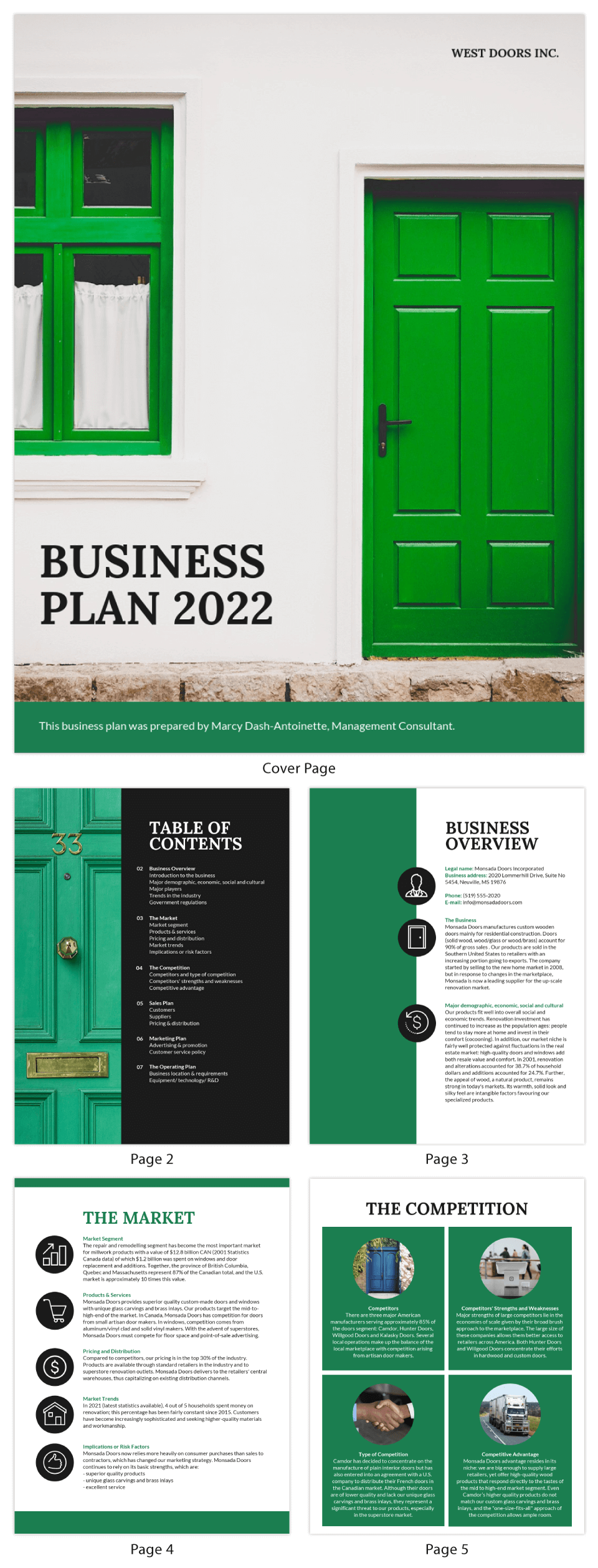 Green Simple Business Plan Template