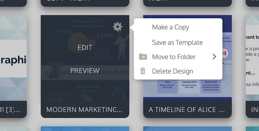 Move designs into folders