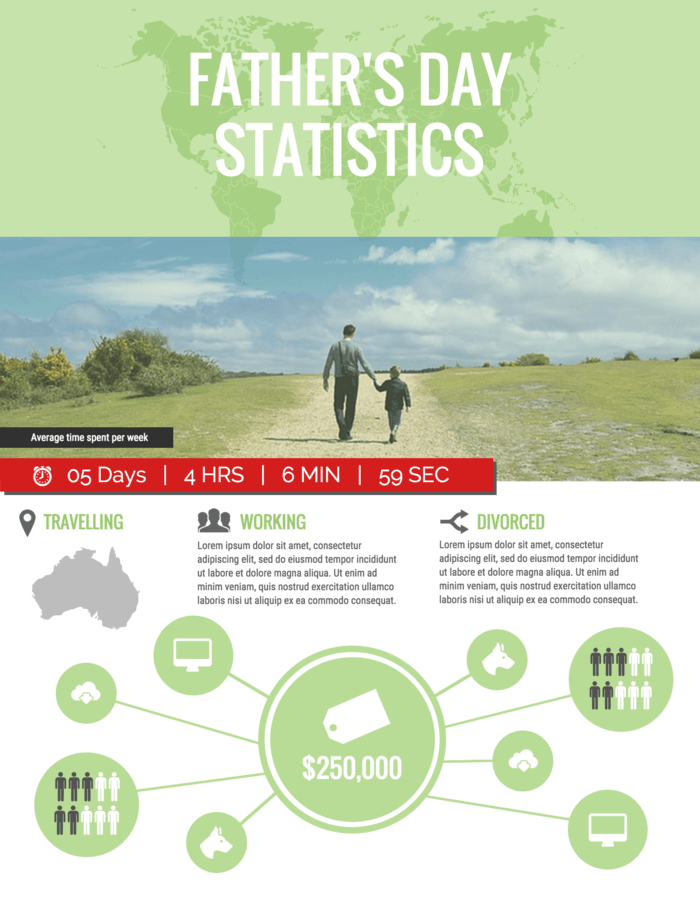 People Infographic Template Fathers Day Statistics