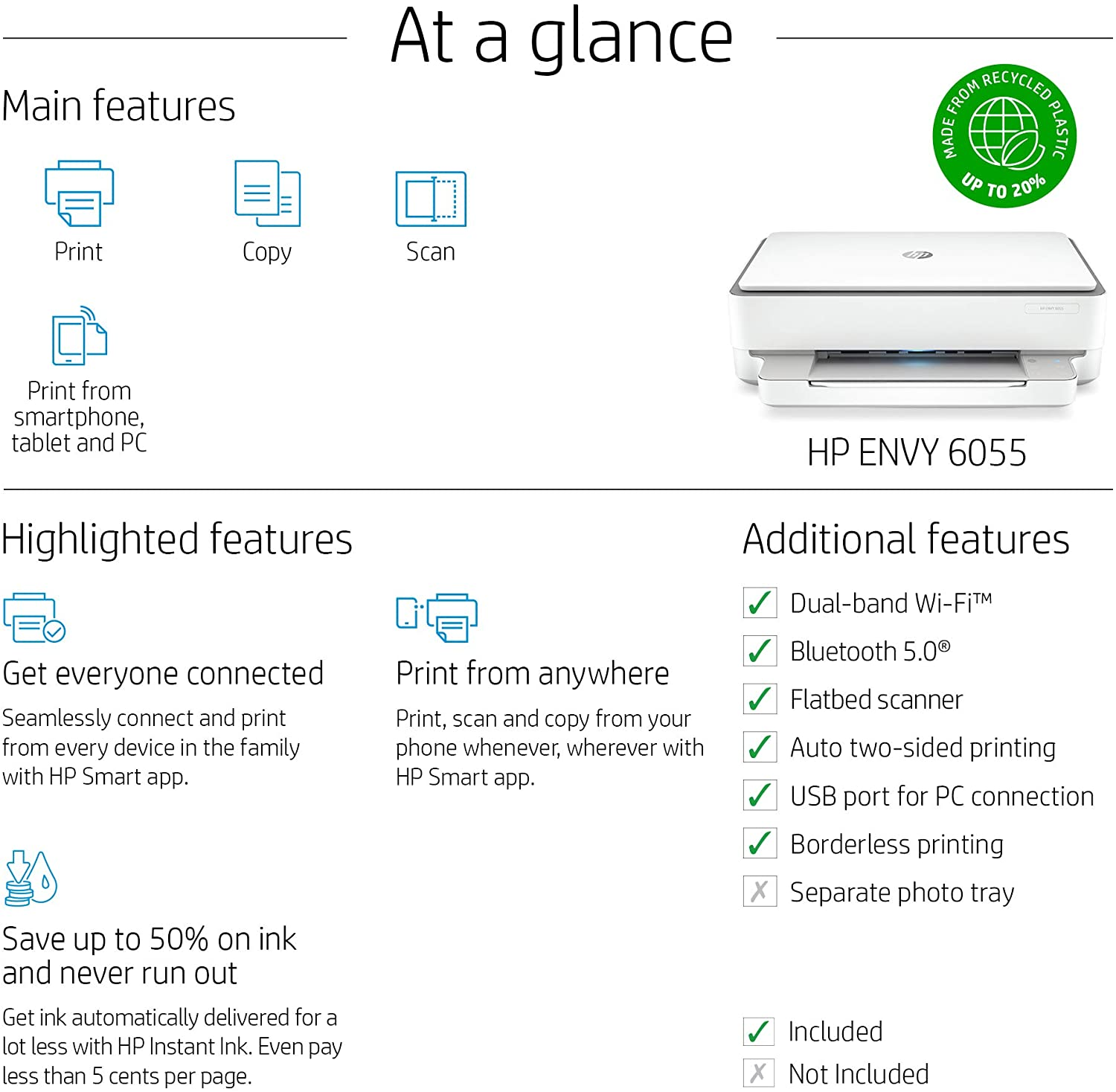 Product Infographic Amazon HP Printer Product Feature Example