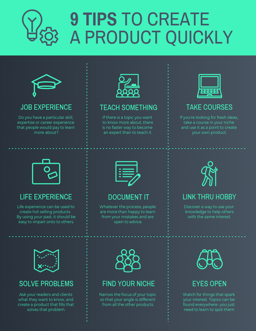 Product Infographic Tips Create Product List Template