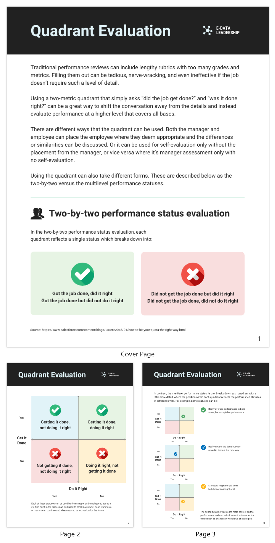 Quadrant Performance Review Evaluation Report Template