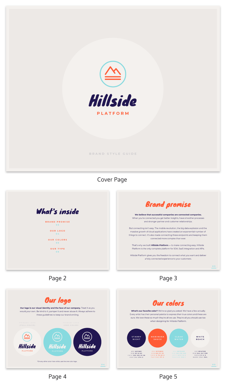 Strategy Infographic Brand Style Guide Ebook Template