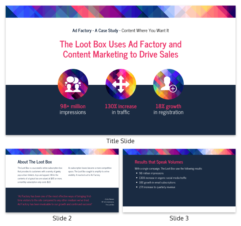 Strategy Infographic Content Marketing Case Study Presentation Template