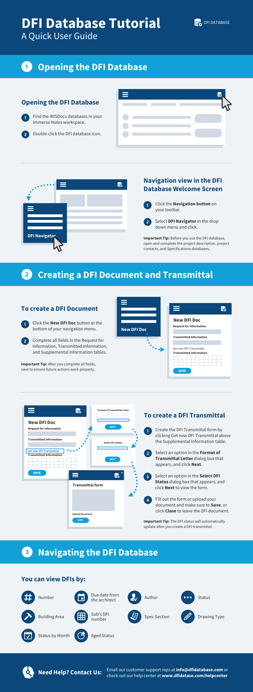 Technology Infographic Tech Software Quick User Guide Database