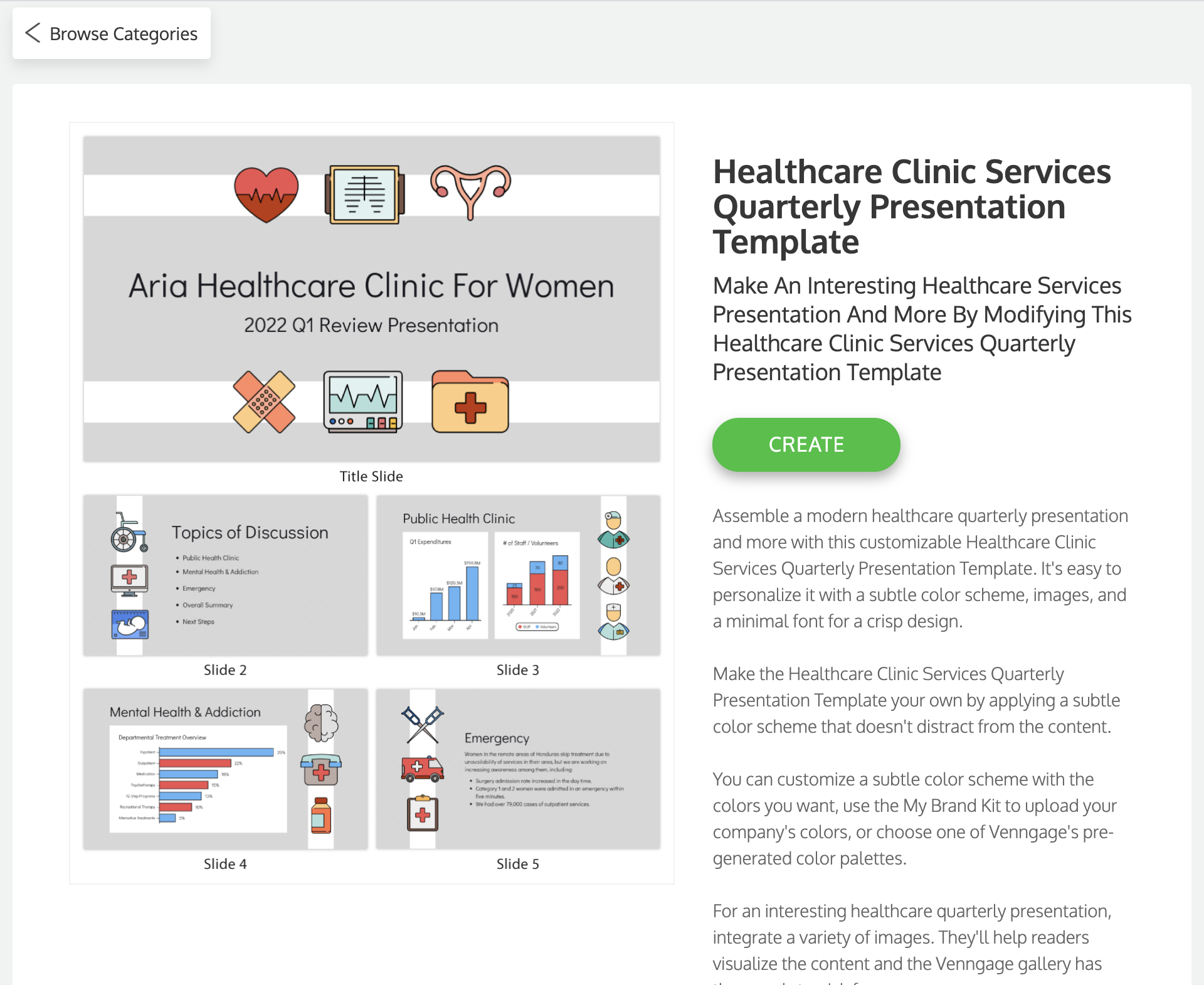 Venngage vs PowerPoint Venngage Healthcare Presentation Template