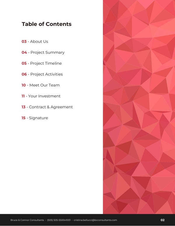 Abstract Business Consulting Proposal Template TOC_Venngage